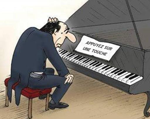 Le piano c'est trop compliqué !